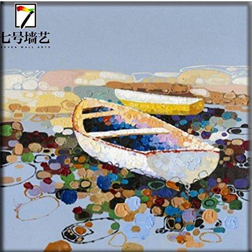 Astratto dipinto a mano puro re decorativi pittura pittura a olio della nave