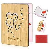 HOWAF Biglietto d'Auguri d'Amore Fatto a Mano Biglietto Anniversario Matrimonio con Busta Miglior Biglietto Regalo per San Valentino, Compleanno, Anniversario, Matrimoni