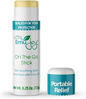 Mosquito Bite Relief - Bug Bite Itch Relief for Kids Baby & Adults - Anti Itch Treatment for Insect Bites Bee Stings Bed Bug Bites - All Natural Emu Joy On The Go Stick