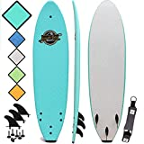 Premium Beginner Soft-Top Surfboards - 7' | 8' | 8'8 Surfboard Sizes - The Easiest & Most Fun Foam Surf Board for Beginners of All Ages
