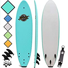 South Bay Board Co. - Premium Beginner Soft Top Surfboards - 7' | 8' | 8'8 Sizes - The Best Foam Surf Boards for Beginners, Kids, and Adults - Wax Free Soft Top Surfboards for Fun & Easy Surfing
