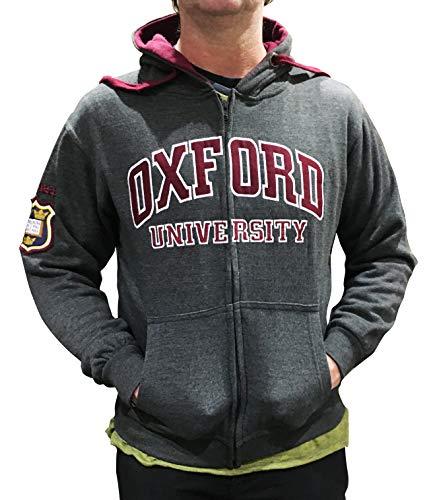 Sudadera con Capucha y Cremallera de la Universidad de Oxford - Ropa con Licencia Oficial