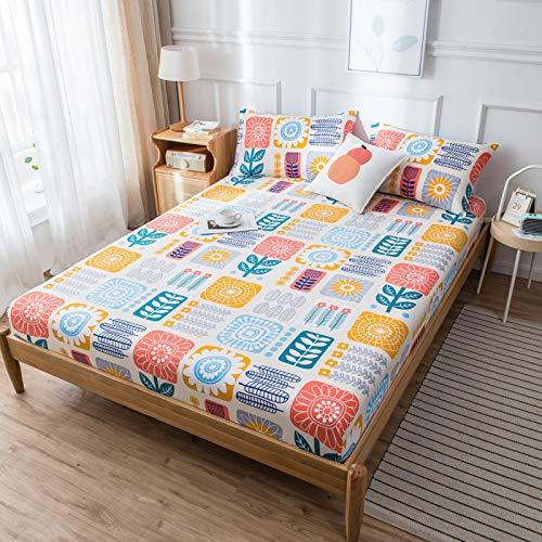 XiaomiziLussuoso cuscino inferiore e orlo elastico si adattano al tuo letto ipoallergenico: 90 x 190 (alto 15 cm).