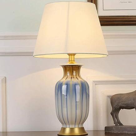 @テーブルランプ セラミックテーブルランプベッドルームベッドサイドデスクランプ装飾ランプデスクランプ[エネルギークラスA +] (色 : 1#)