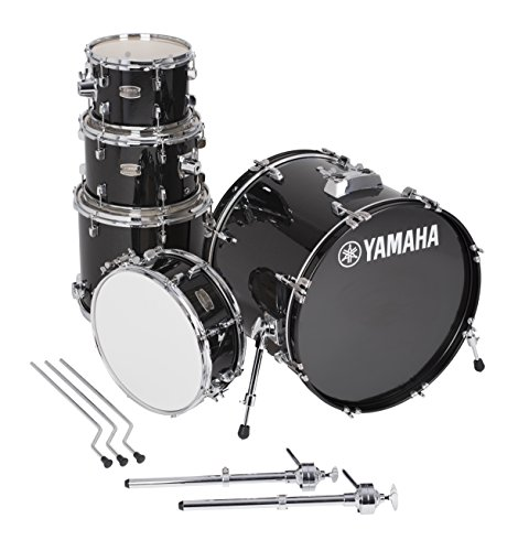 """Yamaha RDP0F5BGG Rydeen 5PC della confezione con glitter per grancassa da 50,8cm, bordeaux 20"""" Bass Drum Black Glitter"""