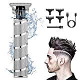 Tondeuse Electriques Hommes,Étanche T-Lame 0mm-USB Tondeuse à Cheveux,Brostyle Tondeuse Cheveux Hommes Professionnel Sans Fil,Domestique et Salon de Coiffure Avec 3 Peignes de Guidage