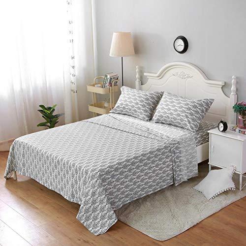 Vlak bij het lichaam Bed Hoeslaken 100% polyester Stof Zacht Niet gemakkelijk te pil Comfortabele bedovertrek Dekbed met sterke luchtdoorlatendheid Kanten randen Scandinavische stijl(#2)