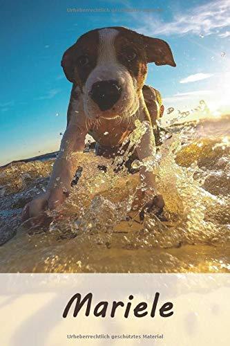 Mariele: Personalisiertes blanko Notizbuch / Malbuch mit Namen: Mariele - individuelles Namensbuch mit Hunde Motiv | perfekt als Geschenkidee