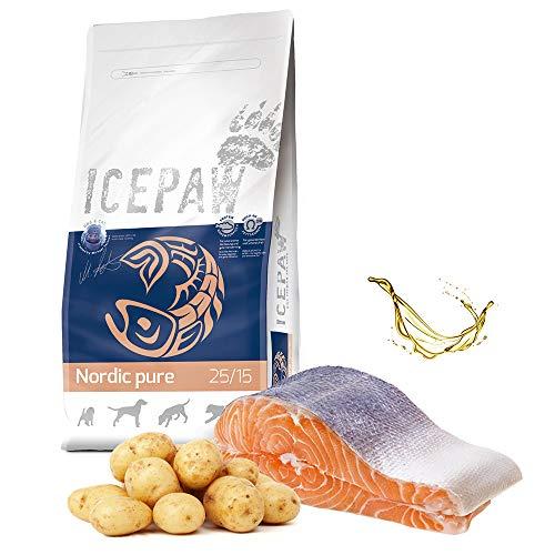 ICEPAW I High Premium I Trockenfutter Nordic Pure 2 kg I getreidefrei I Lachs und Kartoffeln I Für futtersensible Hunde