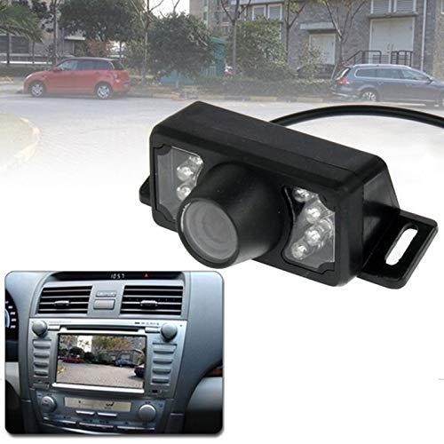 QICHENGBIN Rückfahrkamera-Kit 7 LED IR Infrarot wasserdichte Nachtsicht drahtlose Kurz Objektiv DVD Rückansicht mit Skalenplatte, Unterstützung Eingebaut in Auto-DVD-Navigator