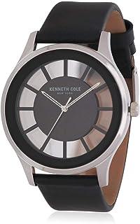 ساعة كينيث كول نيويورك سوداء شفافة بسوار جلدي
