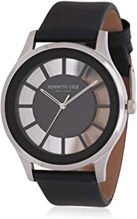 Kenneth Cole Womens Quartz Watch, Analog Display and Leather Strap KC50500001