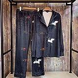 Camisones Pijamas De Una Pieza Pijama Casual De Dos Piezas De Manga Larga, Fresco Y Refinado Para Hombres, Servicio A Domicilio De Dos Piezas De Manga Larga
