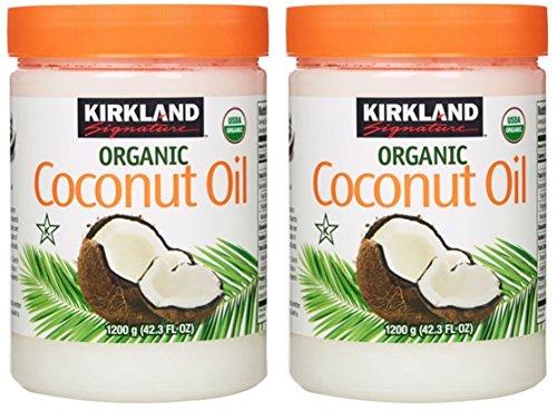 Kirkland Signature Organic Virgin Coconut Oil Cold Pressed Unrefined 1.2kg (Pack of 2)