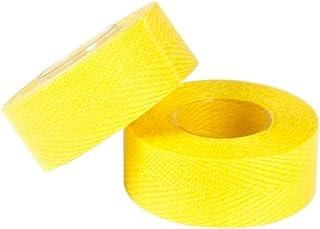 Tressostar Cloth Adhesive Bicycle Handlebar Tape - Single Roll (Yellow)