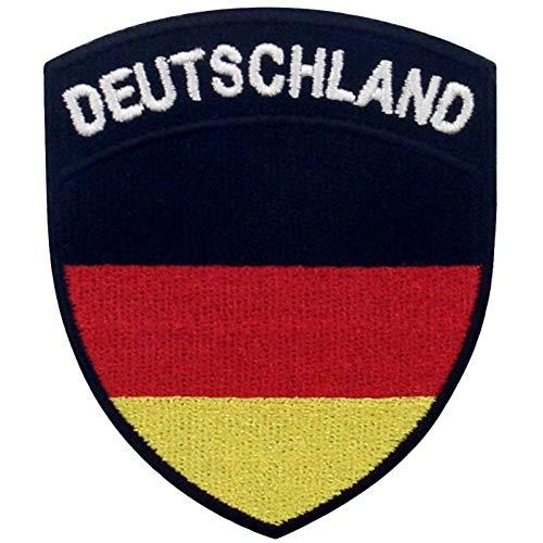 Bandera de escudo de Alemania Parche Bordado de Aplicación con Plancha