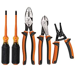 5-Piece kit includes essential 1000V rated insulated tools including pliers (2), wire stripper and screwdrivers (2) All tools meet or exceed ASTM F1505 and IEC 60900 standards for insulated tools Three-part insulation with underlayer on the pliers an...