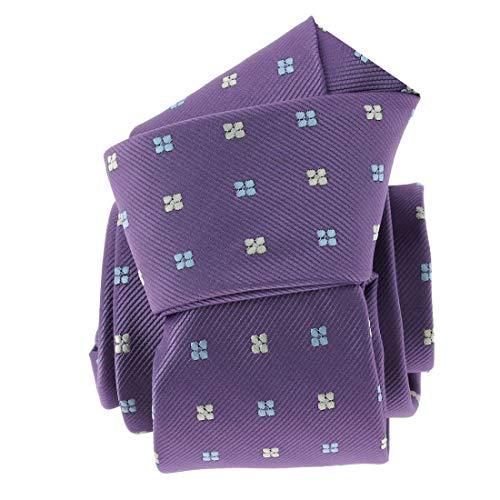 Clj Charles Le Jeune. Cravate. Fleurs, Microfibre. Violet, Discret et sobre.