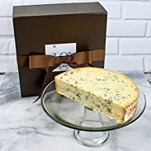 Blue Stilton DOP Half Moon Cut in Gift Box - The King of English Cheeses, Stilton is a creamy pungent English cheese, We Call This one The Royal Blue.