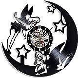 YYIFAN Reloj de pared de vinilo de 12 pulgadas con diseño d