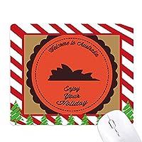 オーストラリアの都市シドニーオペラハウス風味 ゴムクリスマスキャンディマウスパッド