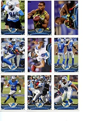 Detroit Lions 2013 Topps Complete Hand Collated Regular Issue 13 Card Team Set Including Ndamukong Suh, Calvin Johnson, Matthew Stafford, Reggie Bush and Others
