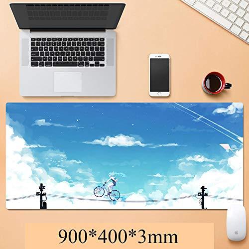 Mauspads Hatsune Miku Large Gaming Mouse Pad mit Randnähten | Erweiterte XXL-Größe, Schwere | Dicke, wasserdichte & Faltbare Matte Für Desktop, Laptop, Tastatur-A