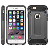 iPhone 6 Case, iPhone 6S Cover, [Survivor] Military-Duty Case - Shockproof Impact Resistant Hybrid Heavy Duty [armor case] Dual Layer Armor Hard Plastic And Bumper Protective Cover Case (DARK GRAY)