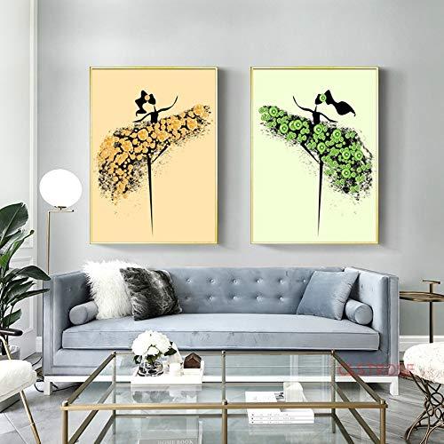 baodanla Kein Rahmen Einfache abstrakte Plakatmosaikfruchtschönheit nordische Hauptdekorationsmähenzimmerwandkunstbild30x40cm
