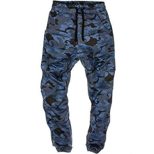 KINDOYO Homme Longues Casual Pantalon de Sport Jogging Camouflage Style Hip-hop