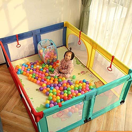 HXF Práctica cama parque infantil valla de bebé para niños, cuna de viaje, cuna cama de bebé, bolígrafo de juego hermoso, Tela Oxford, plástico, tubo de acero,, 120x190cm