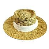 JINRONG La Tapa De Vacaciones Apartamento New Sombrero De Paja Sombreado del Sol Dayan Mao Rueca Summer Beach Beach Casquillo del Knit Agraciado De Moda Sombrero (Color : White)