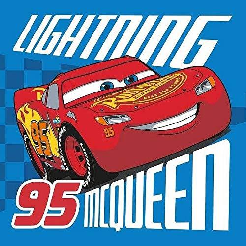 Toalla mágica, diseño de Cars McQueen Disney (30 x 30 cm, algodón)