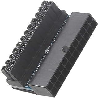 Frenc' 24-polige ATX rechthoekige converter, 24-polig, mannelijk, 90 graden, voor desktopcomputer, zwart