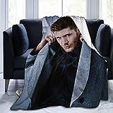 Micffo Jensen Ackles Blanket Stylish Collage of Super Soft Flannel Quality Fabrics All Season Warm 60'' x50