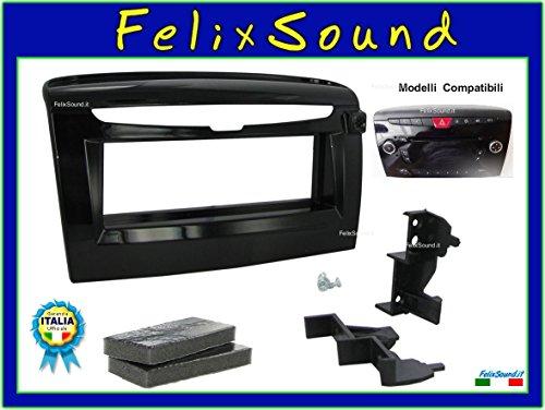 Mascherina autoradio 1 din montaggio stereo auto. Consulta la sezione 'DESCRIZIONE' per vedere la compatibilità dei veicoli.