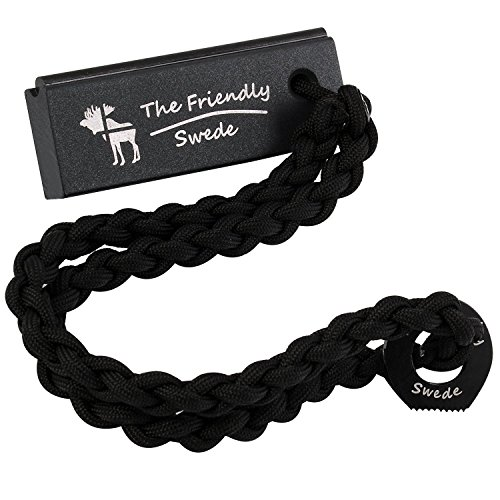 The Friendly Swede Paracord con Accendino di Sopravvivenza in Lega di Magnesio