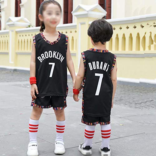 YDYL-LI Jersey Men's, NBA Brooklyn Nets-Kevin Durant # 7- Niño Adulto Classic Sport Ropa Sin Mangas Camiseta Sin Mangas, Confort Tops Tops Uniformes Set,Negro,XL (Adult)