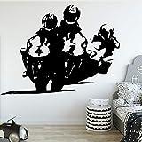 Motocross Pegatinas de pared impermeables Sala de estar Habitación para niños Decoración de la habitación Decoración de arte de pared Color personalizable 43cm X 64cm