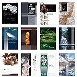 24 Stück Set Trauerkarten Beileidskarten Kondolenzkarten mit Umschlag, Klappkarten 17 x 12 cm