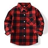Toddler Boy Button Up Shirt Long Sleeve Shirt...