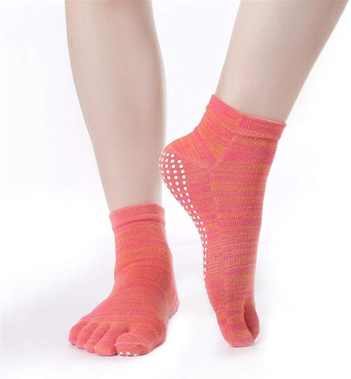 Yoga Socks for Women Non Slip, Toeless Non Skid Sticky Grip Sock  Pilates, Barre, Ballet Floor Socks Sports Socks (2 Pairs)