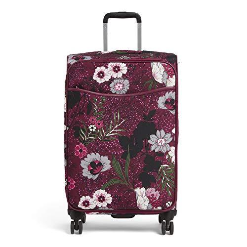 Vera Bradley Women's Softside Rolling Suitcase Luggage, Bordeaux Meadow, 27' Check In