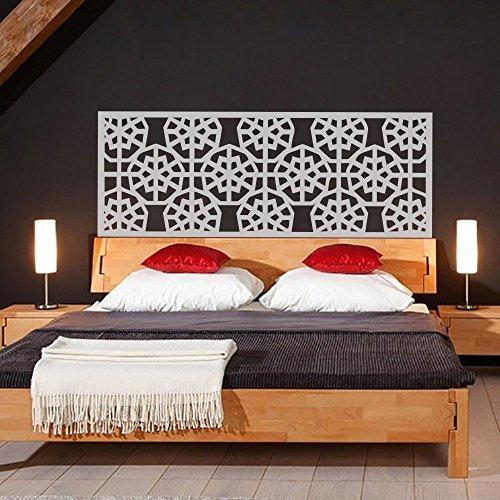 Adhesivo para la pared, para cabecero de cama, diseño geométrico de copo de nieve, estilo Shabby Chic, vinilo, verde azulado, 30'hx76'w
