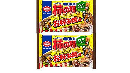 【お試し】【まとめ買い】【期間限定】170g亀田製菓 柿の種 オタフクソース使用 お好み焼き味6袋詰×2袋