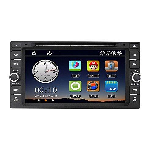 KKmoon Universal Auto Radio Doppel 2 Din Car DVD Player GPS Navigation im Schlag Auto PC Stereo Haupteinheit für Nissan Livina Navara Tiida Qashqai Sunny X-TRAI l+ Freie Landkarte + Freie Karte
