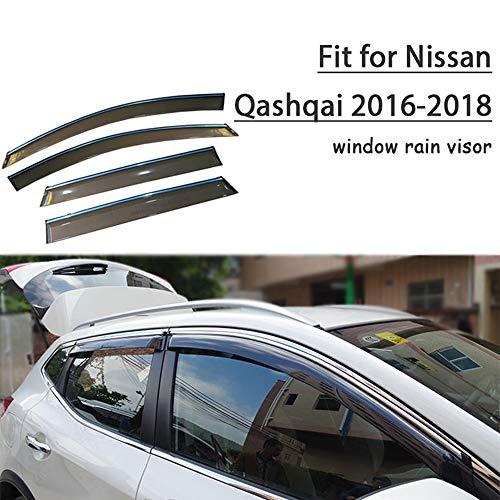 Piaobaige Protector Deflector De Visera De Lluvia Y Sol para Ventana De Estilo De Coche para Nissan Qashqai 2016 2017 2018