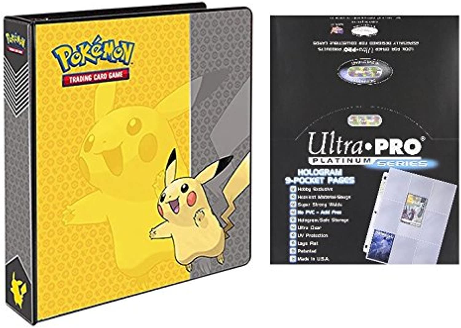 los clientes primero Pokemon Pikachu 2 3-Ring Binder Coched Coched Coched Album with 100 Ultra Pro Platinum Series 9-Pocket Sheets by Ultra Pro  barato