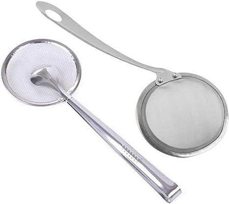 1x Oil Skimmer Strainer Stainless Steel Wire Skimmer Spoon Cooking Kitchen Tools