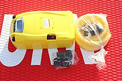 Digital High-Pressure Electric Pump with Battery. Two Stage. 1 to 11.6 PSI. Inflate boats, kayaks and rafts in minutes. Never use hand pump again! Inflates and deflates. Highly Recommended!